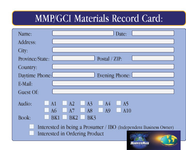 MMP-942 – Materials Records Card, front