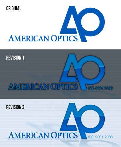 American Optics Logo Comparison