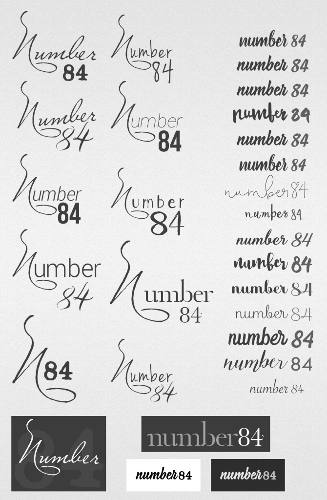 Number84 Logo Development