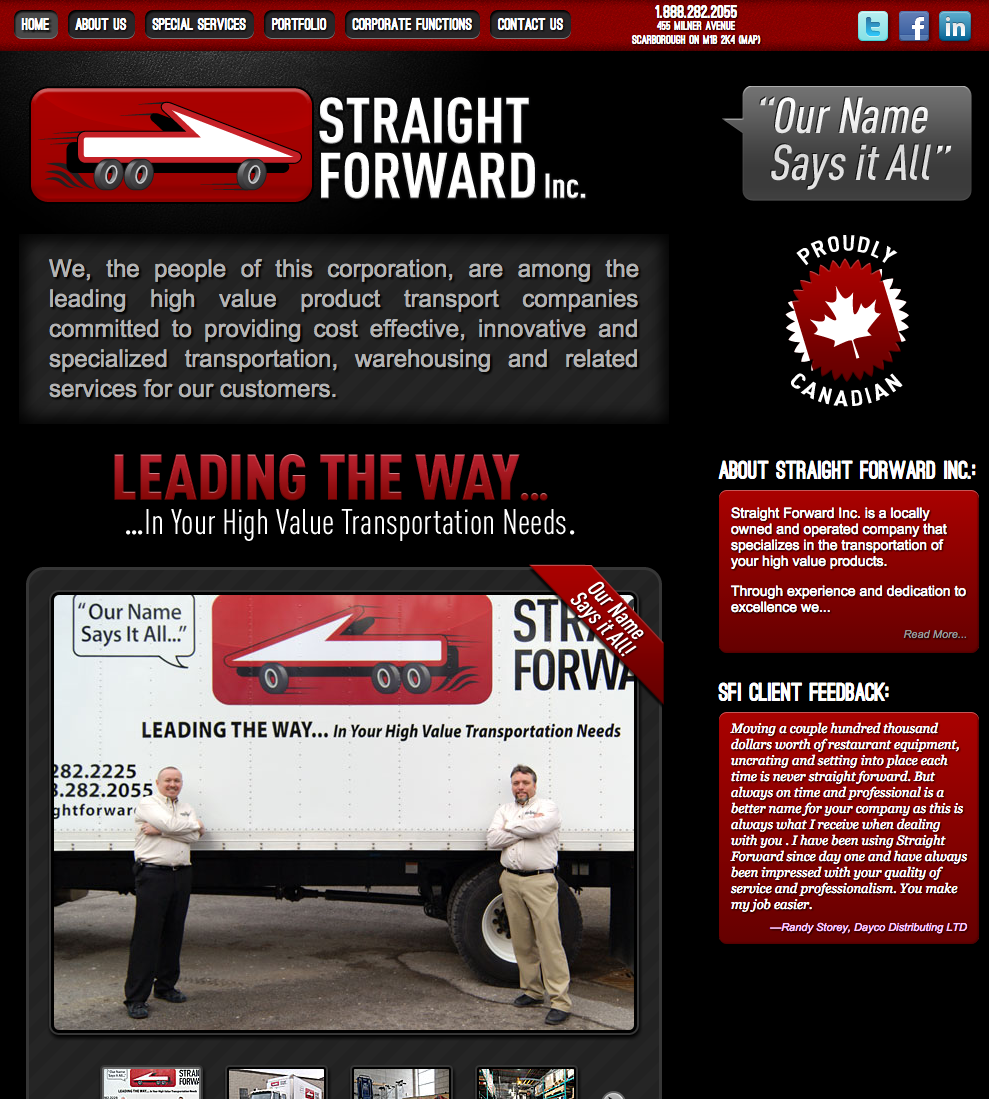 Straight Forward Inc 2012